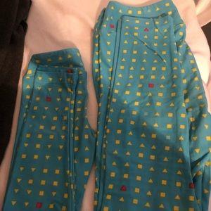 LuLaRoe mommy and me leggings set (shapes)